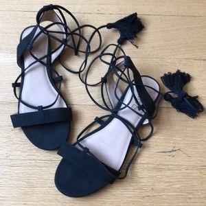 Aldo strappy black sandals
